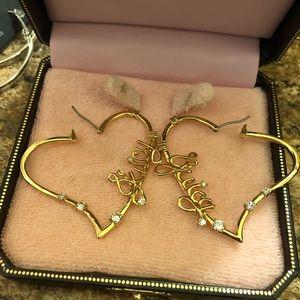Juicy Couture Heart shape earrings